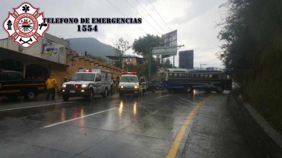 Los heridos fueron traslados al Hospital Nacional de Antigua. (Foto: Twitter/Bomberos Departamentales)