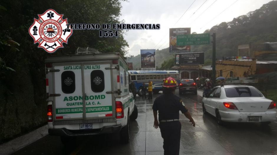 El accidente fue atendido por los Bomberos Municipales Departamentales. (Foto: Twitter/Bomberos Departamentales)