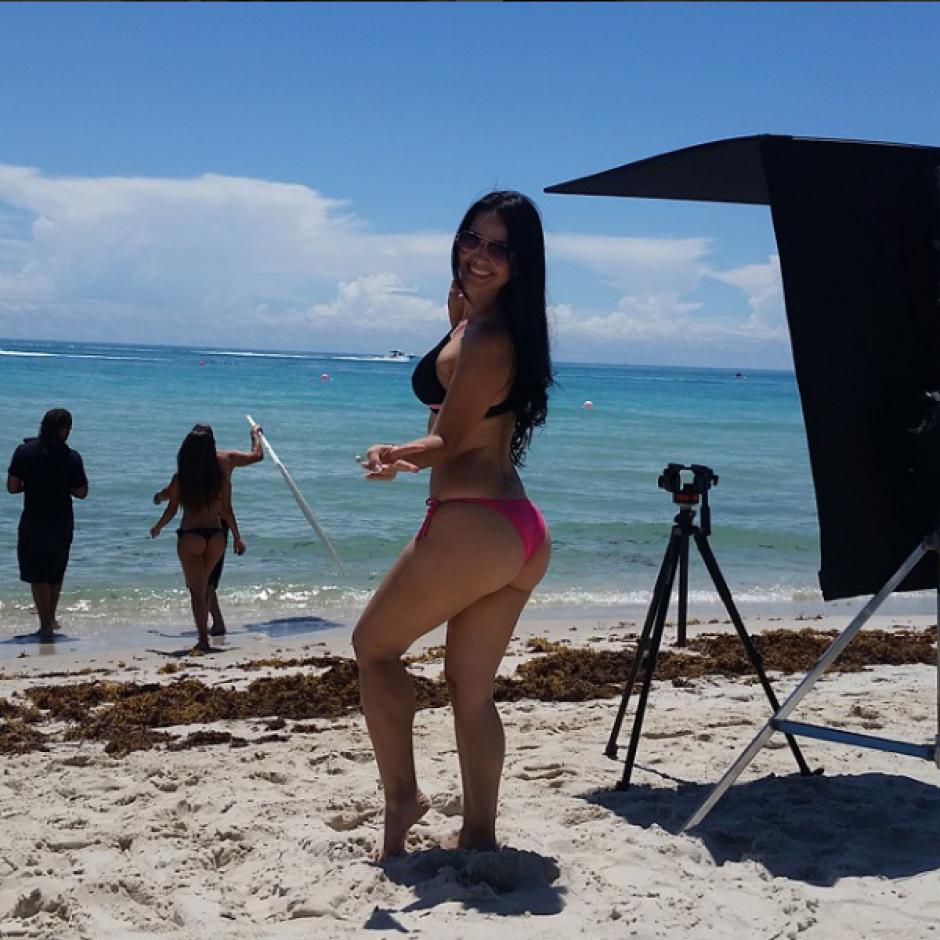 Aros también ha actuado en videos musicales. (Foto: Lorena Aros)