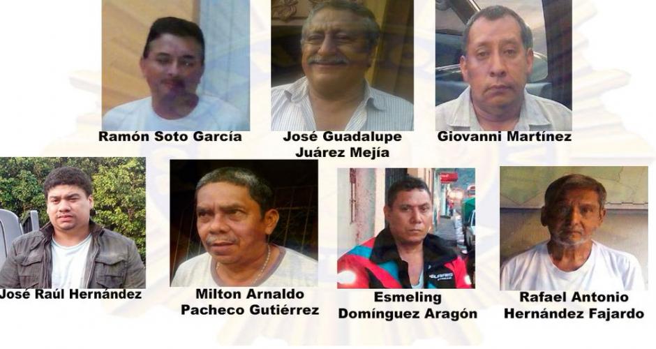 Todos los exmiembros del Concejo Municipal fueron detenidos. (Foto: PNC)
