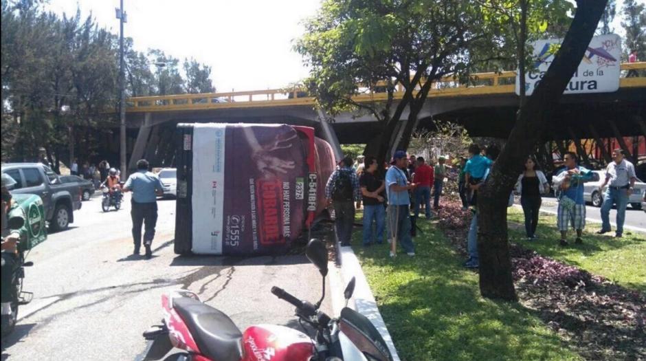 El exceso de velocidad fue la causa del accidente. (Foto: Twitter/@TránsitoPNC)