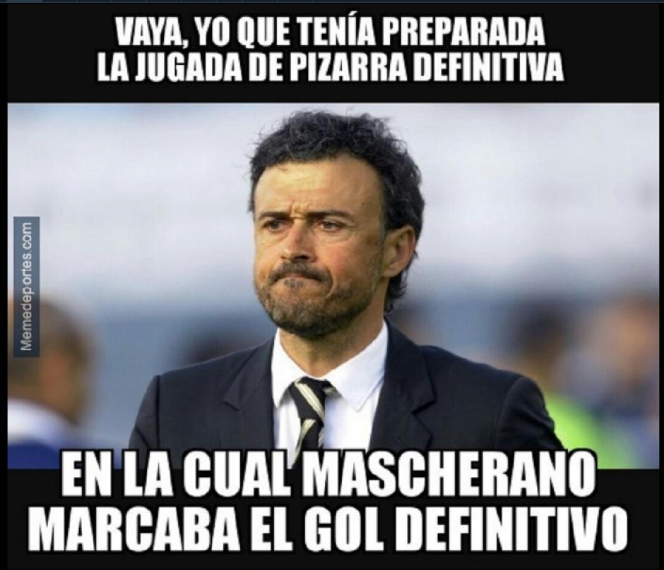 La expulsión de Masche y Luis Enrique.