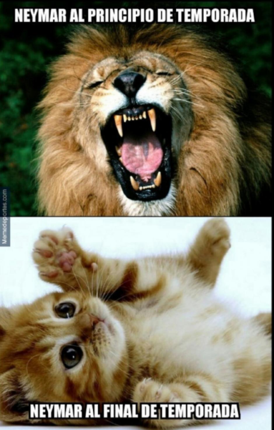 Primero era un león y en la final de Copa de Rey no apareció.