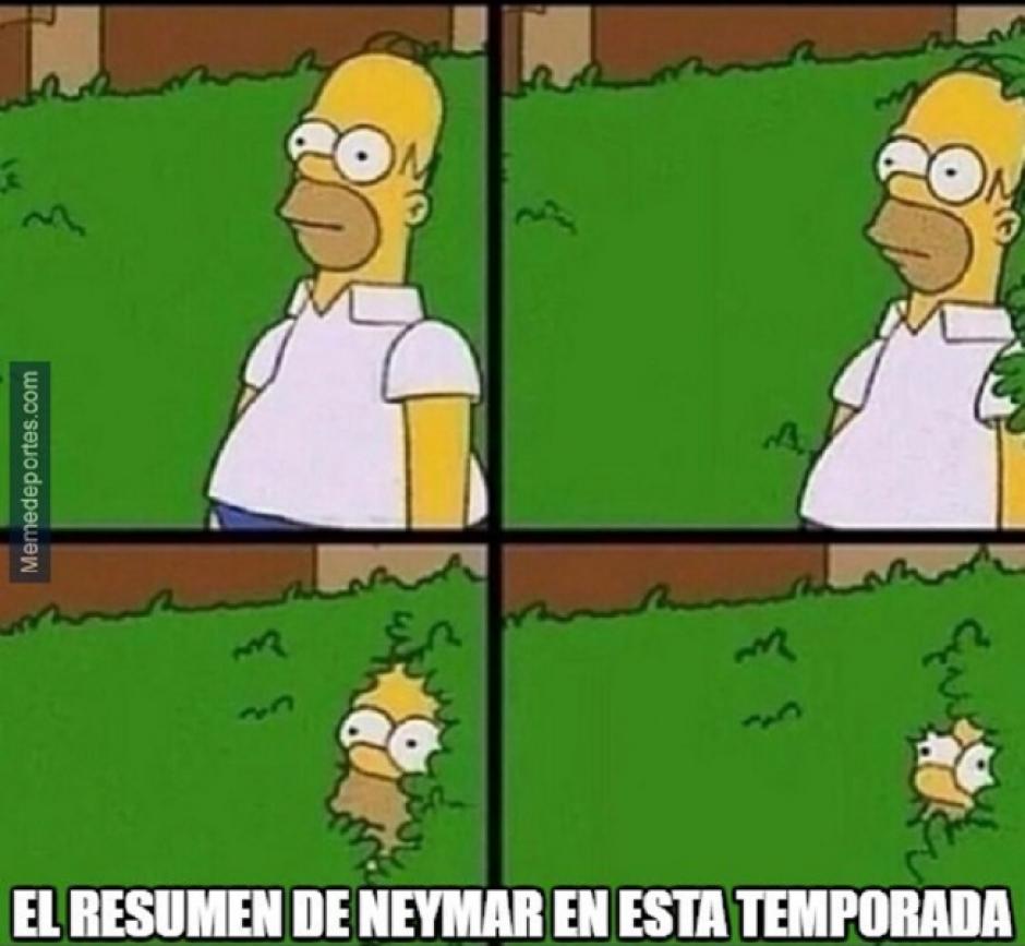 Como se desapareción Neymar.