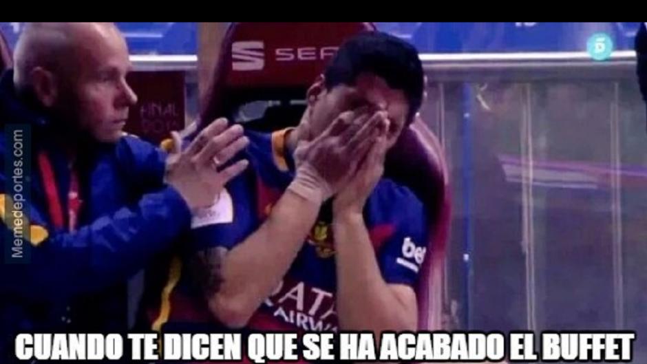 Luis Suárez y su llanto.