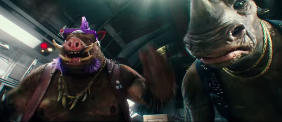 Bebop y Rocksteady lucharán contra las tortugas. (Imagen: Captura de YouTube)
