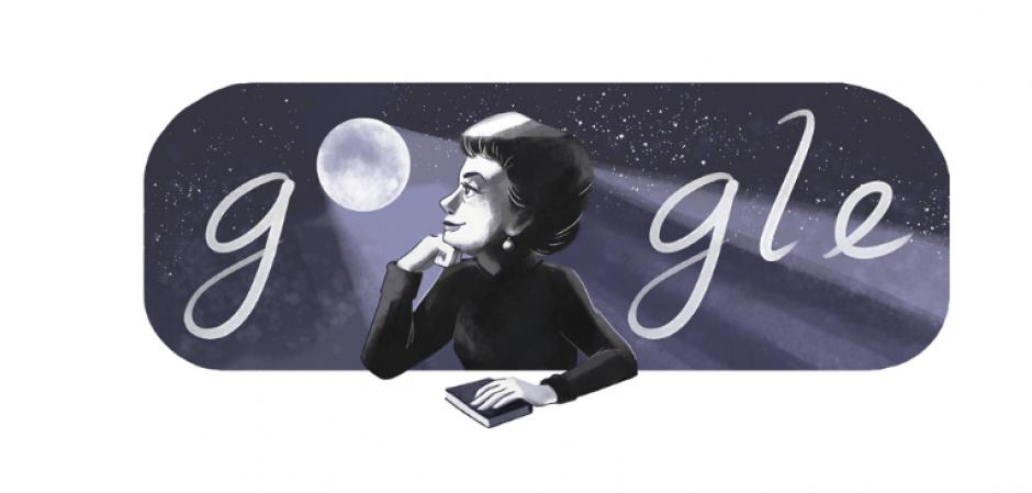 El Doodle de este miércoles es en honor a la escritora mexicana Rosario Castellanos. (Captura de pantalla: Google)