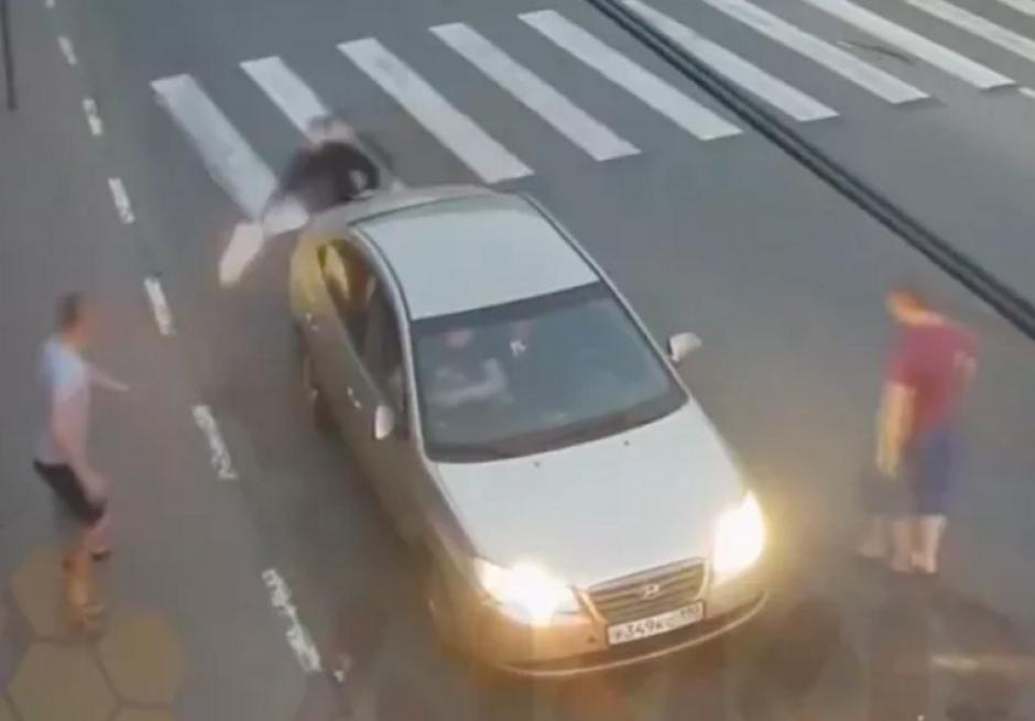 video hombre en Rusia recibe disparo en el pie