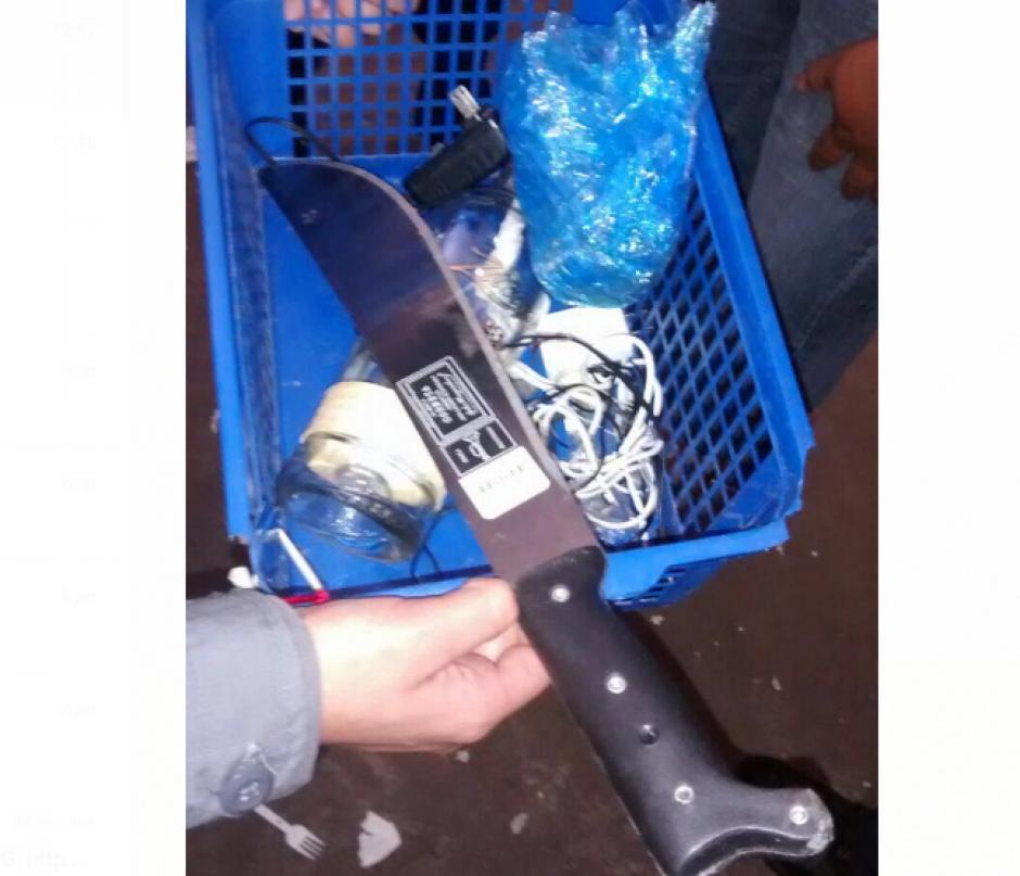 Un machete nuevo también fue localizado. (Foto: DGSP)