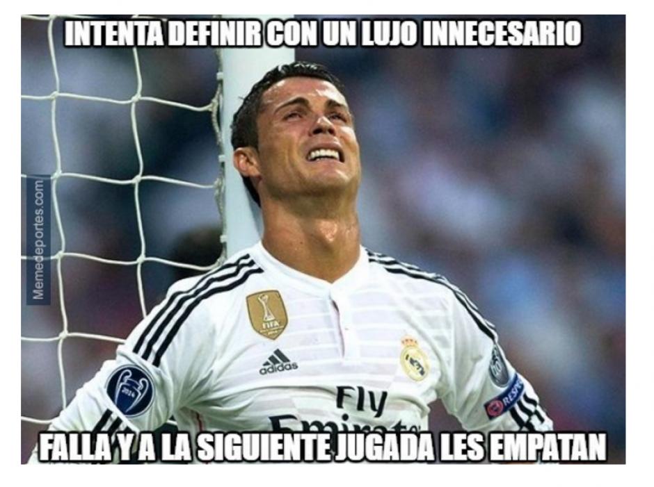 La mala actuación de Ronaldo fue cuestionada. (Foto: MemeDeportes)