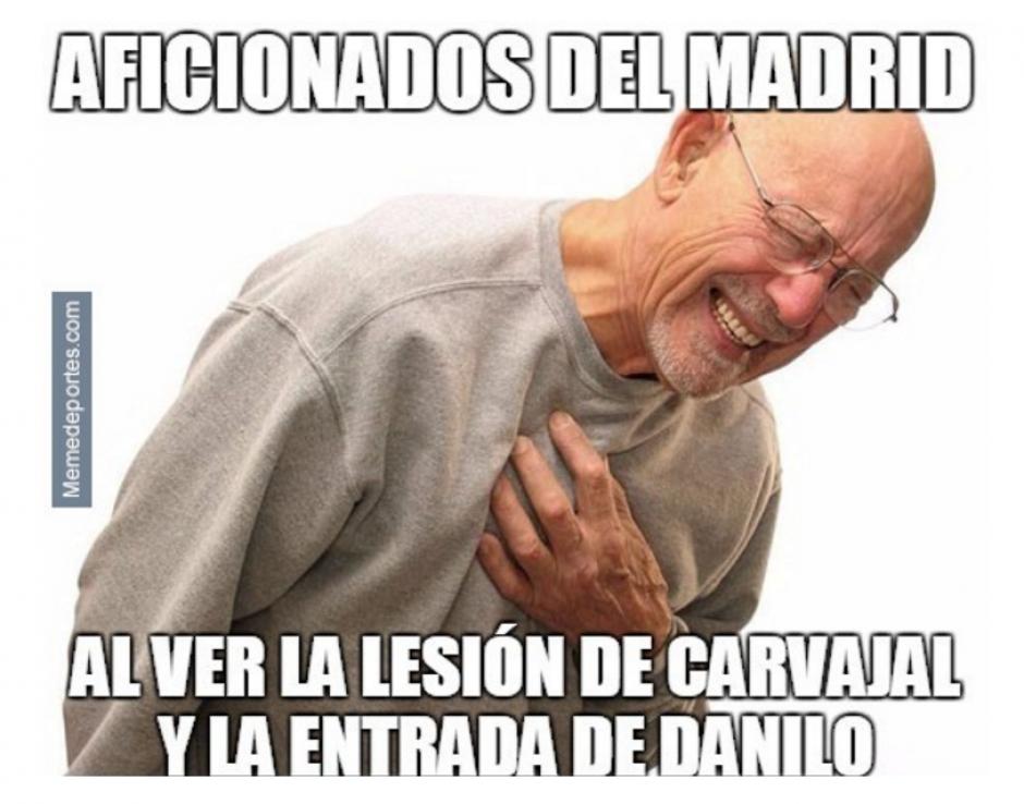 El momento en que el Atlético empata el juego. (Foto: MemeDeportes)