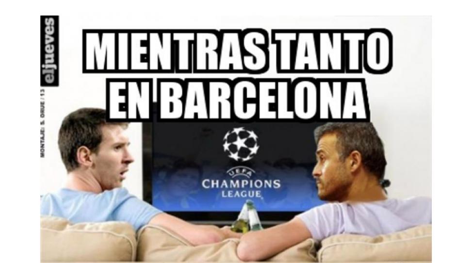 """Luis Enrique y Messi fueron recordados en los """"memes"""". (Foto: MemeDeportes)"""