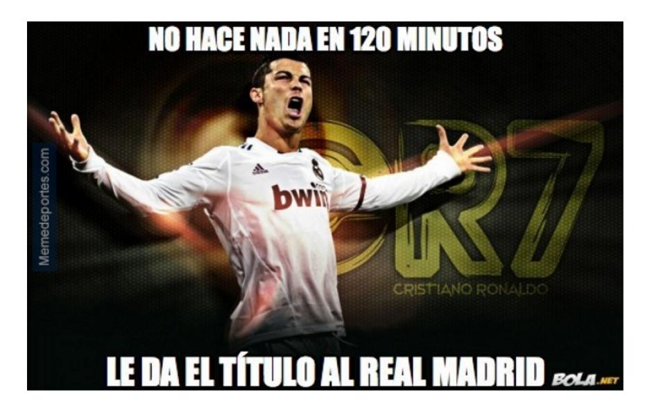 Los memes se divirtieron con la actuación de Cristiano Ronaldo. (Foto: MemeDeportes)