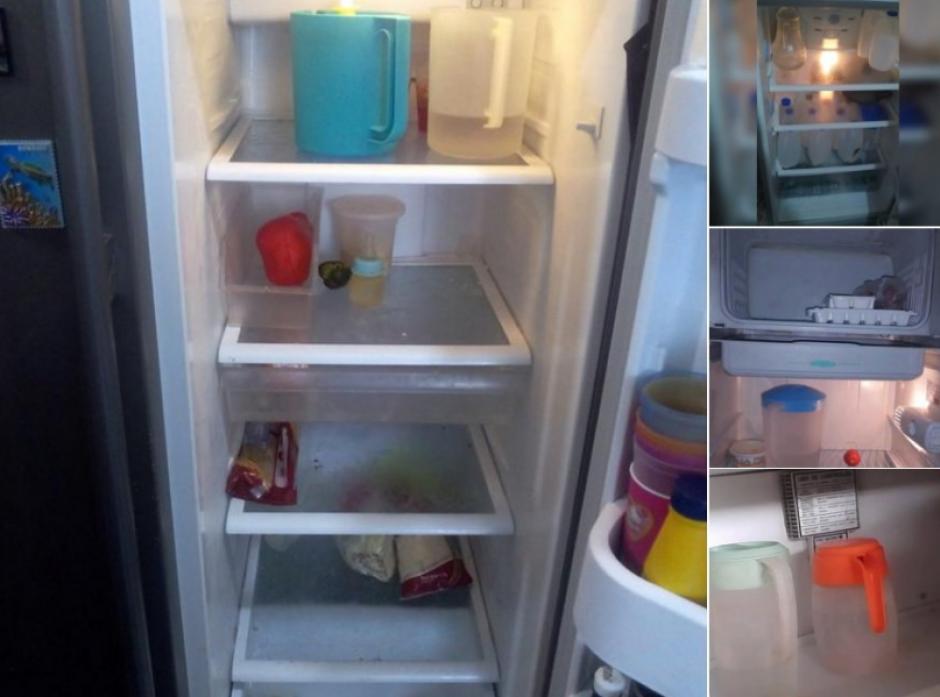 La mayor parte de las refrigeradoras tienen más recipientes que comida. (Foto: Twitter)