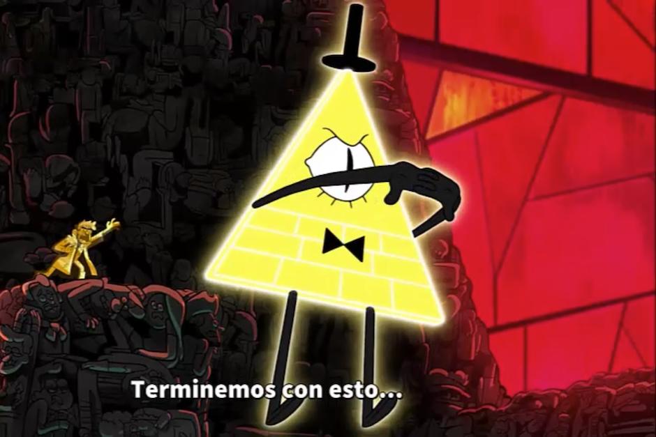 La batalla final que libran Dipper, Mabel y sus amigos es contra Bill Cipher. (Foto: Captura de Pantalla/Gravity Falls)