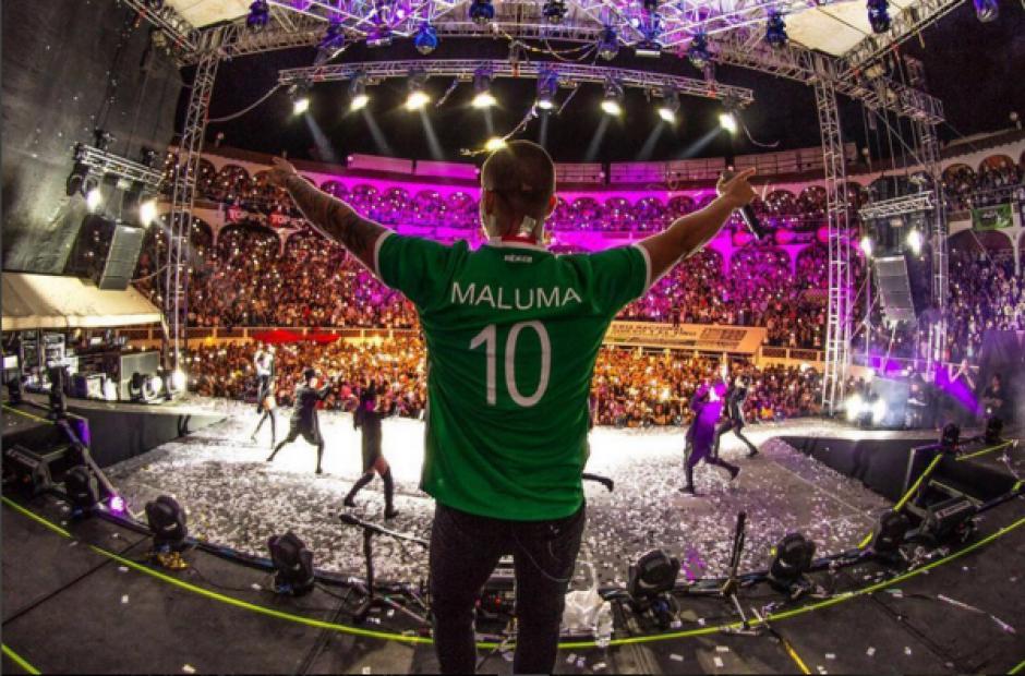 El colombiano ha invitado a otras chicas al escenario y se ha encariñado con ellas. (Foto: Instagram Maluma)