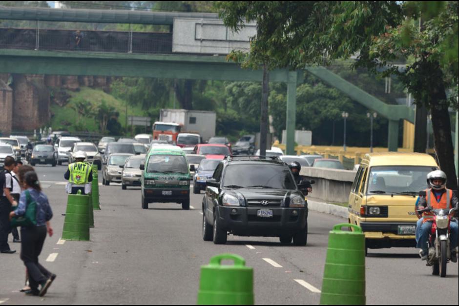 Los operativos para regular el tránsito no serán suspendidos. (Foto: Archivo/Soy502)