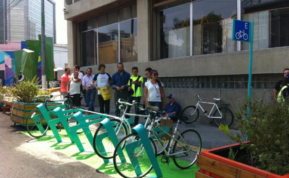 Así sería el nuevo biciparqueo en el Centro Histórico. (Foto: Facebook/Biciudad)