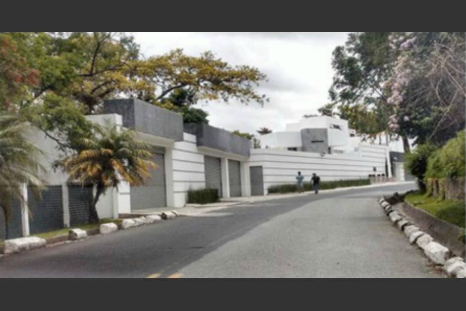 """Baldetti compró una casa en la colonia """"Eucaliptos"""" de carretera a El Salvador valorada en más de 3 millones de quetzales. (Foto: cortesía CICIG)"""