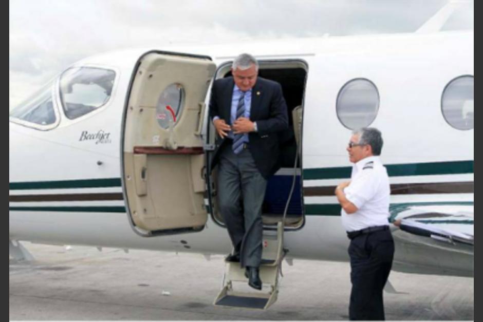 El expresidente Otto Pérez Molina adquirió un jet que costó 1 millón 600 mil dólares (12 millones 212 mil 528 quetzales). (Foto: Cortesía CICIG)