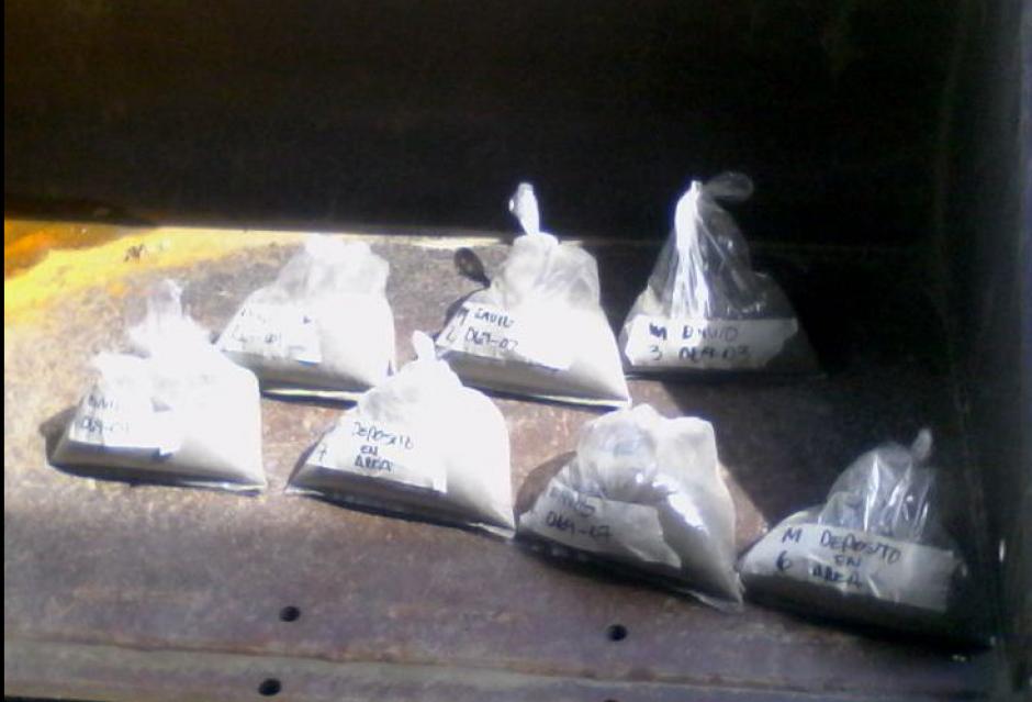Los materiales tienen datos que revelan su extracción. (Foto: PNC)