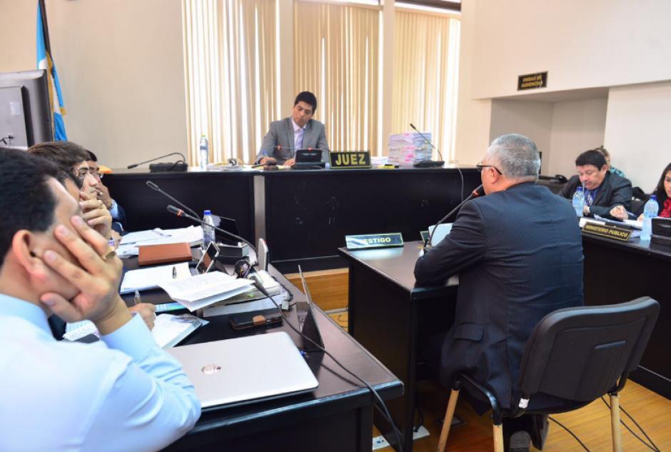 Salvador González ofreció su declaración en calidad de colaborador eficaz. (Foto: Jesús Alfonso/Soy502)