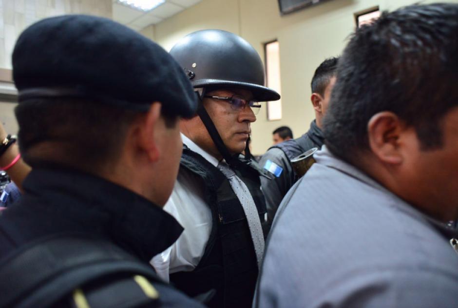 González fue trasladado bajo fuertes medidas de seguridad. (Foto: Jesús Alfonso/Soy502)
