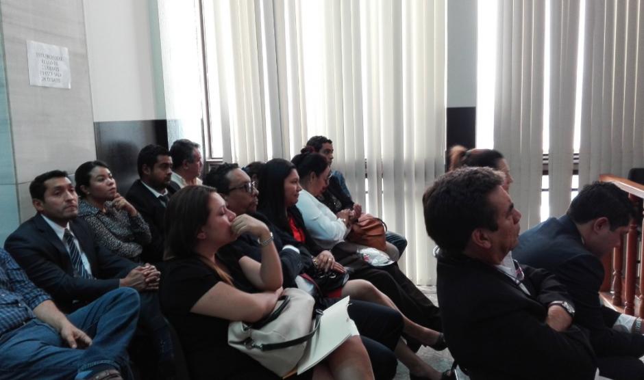 Los implicados en el caso Bufete de la Impunidad escucharon la declaración de Eco. (Foto: Marcia Zavala/Soy502)