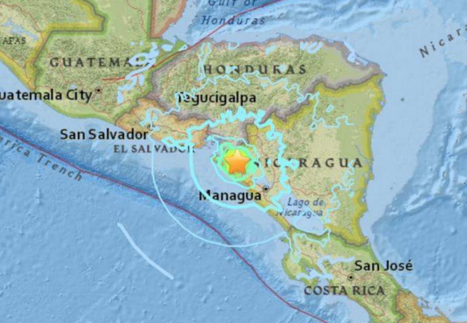 El temblor fue sensible en Nicaragua, El Salvador y Honduras. (Foto: Canal 2 de Nicaragua)