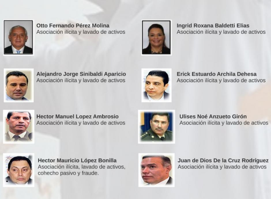 En el caso La Cooperacha habrían participado varios exfuncionarios del gobierno de Otto Pérez Molina. (Foto: Captura de Presentación/MP)