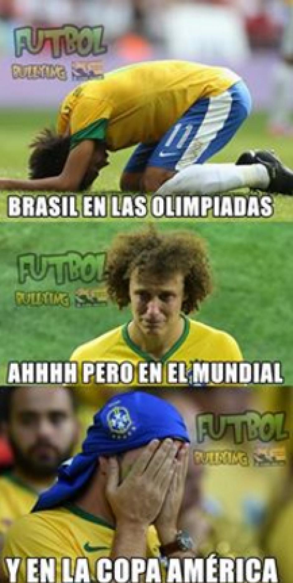 Los resultados de Brasil en torneos recientes no han sido los esperados por su afición. (Foto: Futbol Bullying)