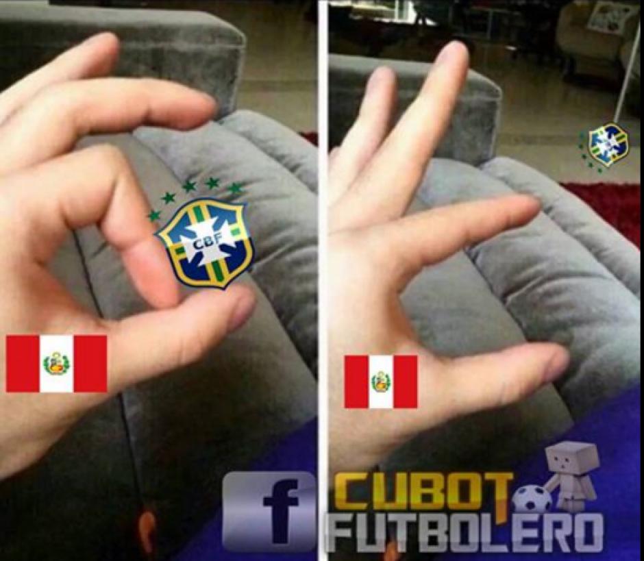 La eliminación de Brasil fue objeto de burlas. (Foto: @nomemesfutbol/Twitter)