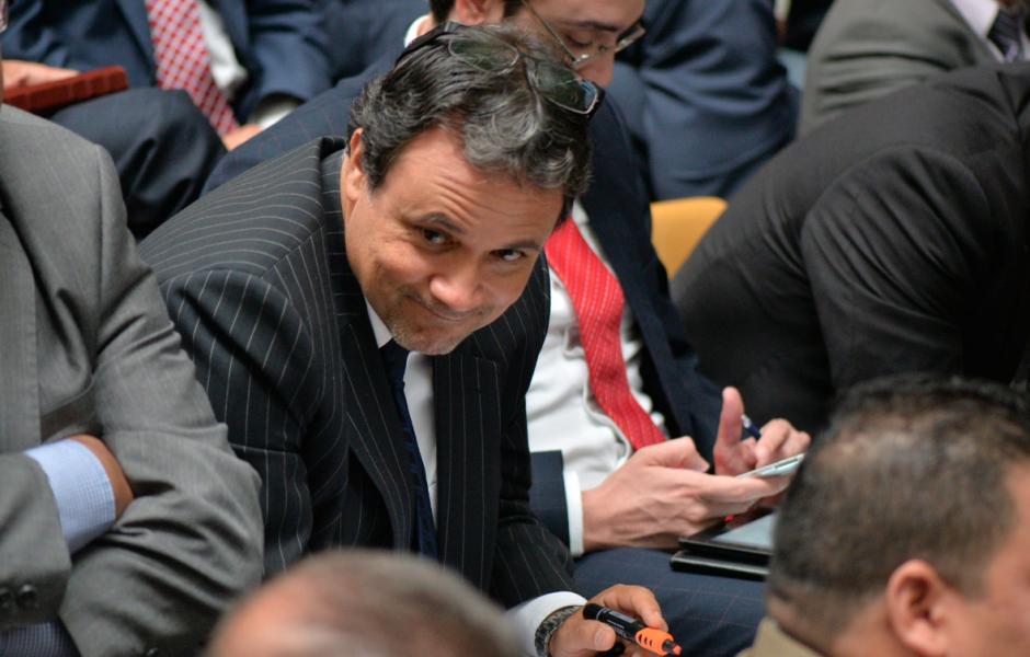 José Toledo es otro de los abogado que asistió a la audiencia por el caso Cooptación del Estado. (Foto: Wilder López/Soy502)