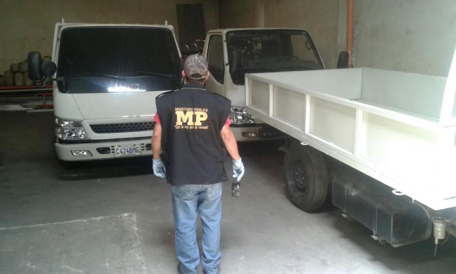 La localización de los camiones estuvo a cargo de la Unidad de Extinción de Domino del Ministerio Público. (Foto: MP)