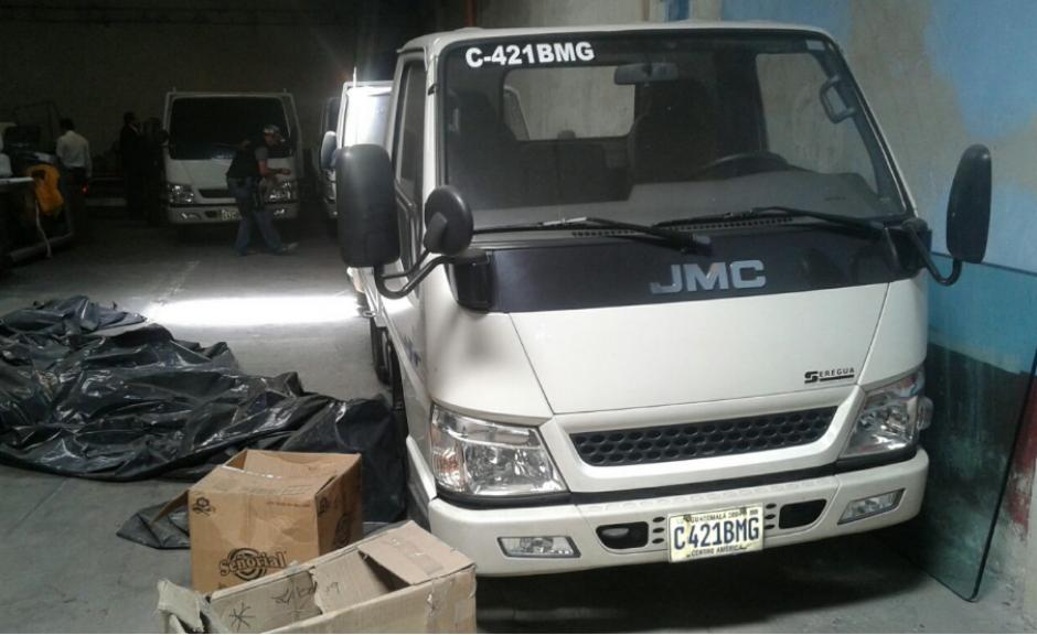 Los cinco camiones fueron entregados a la Senabed, por orden del Juzgado de Extinción de Dominio. (Foto: MP)