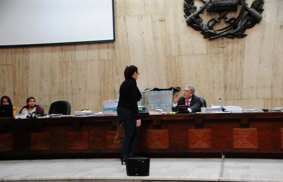 La exvicemandataria explicó al juez sus padecimientos. (Foto: Alejandro Balan/Soy502)