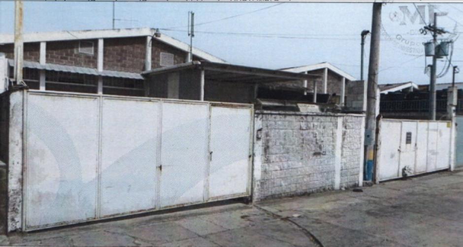A través de Representaciones Alliancee, Baldetti adquirió una bodega ubicada en la zona 13. (Foto: MP)