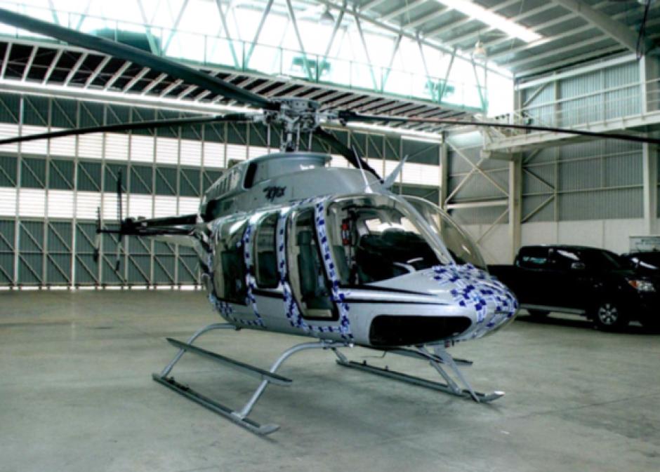 Entres los bienes con medida cautelar, está un helicóptero supuesta propiedad de Otto Pérez. (Foto: MP)
