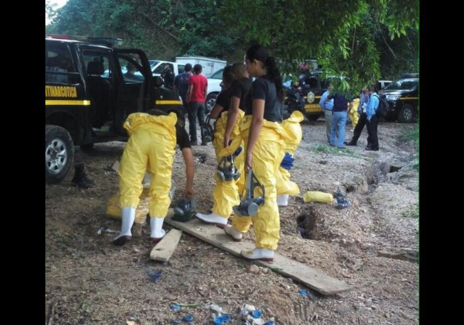 El supuesto narcolaboratorio fue localizado en Suchitepéquez. (Foto: PNC)