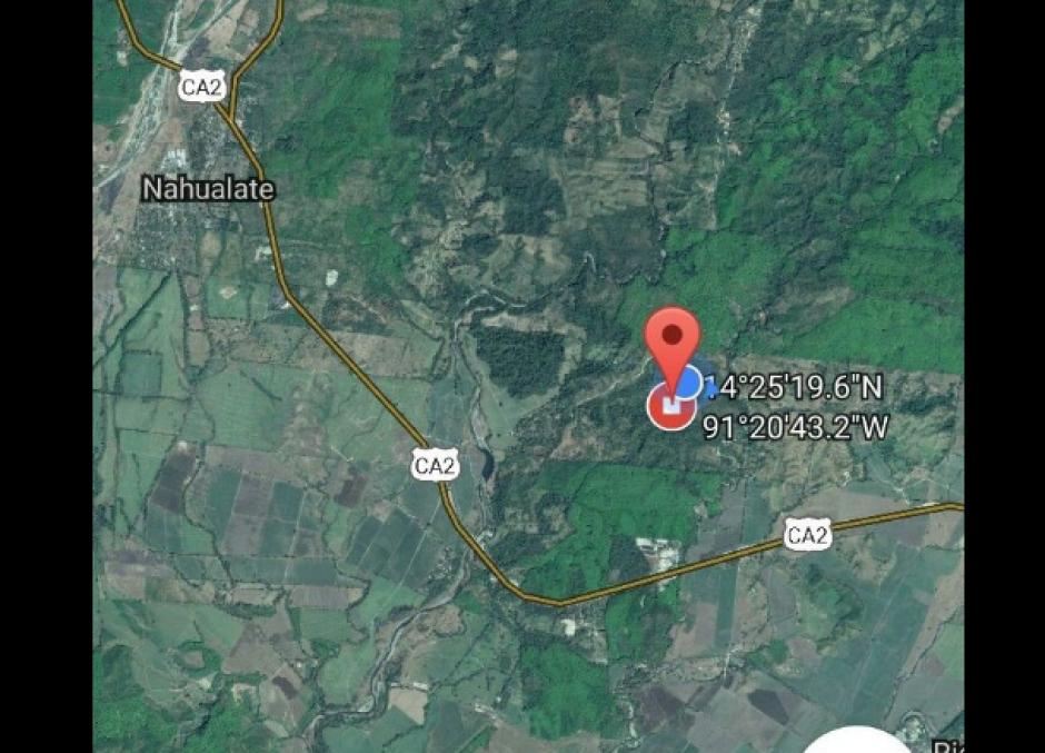 Este es el mapa del lugar donde fue localizado el laboratorio. (Foto: MP)