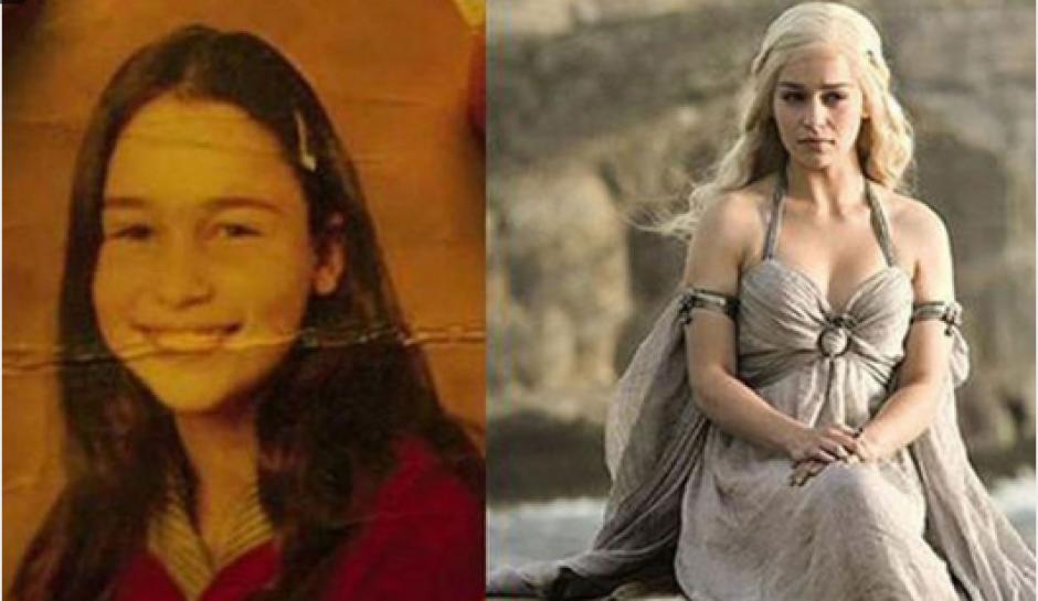 Así lucía Emilia Clarke, quien interpreta a Daenerys Targaryen. (Foto: Cien Radios)