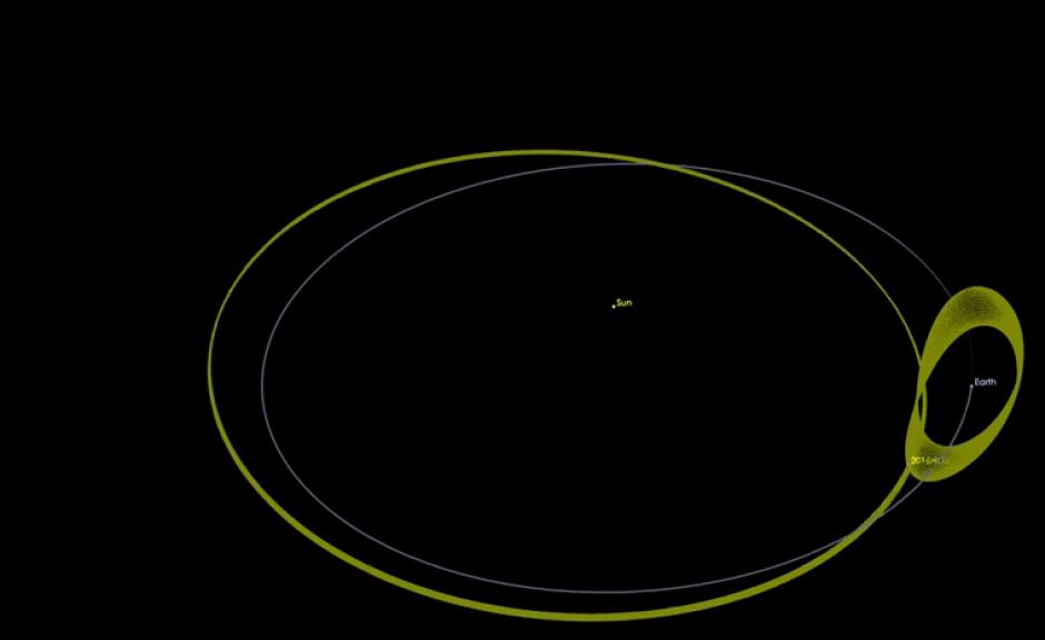 Un pequeño asteroide de unos 100 metros de diámetro acompaña la órbita de la Tierra