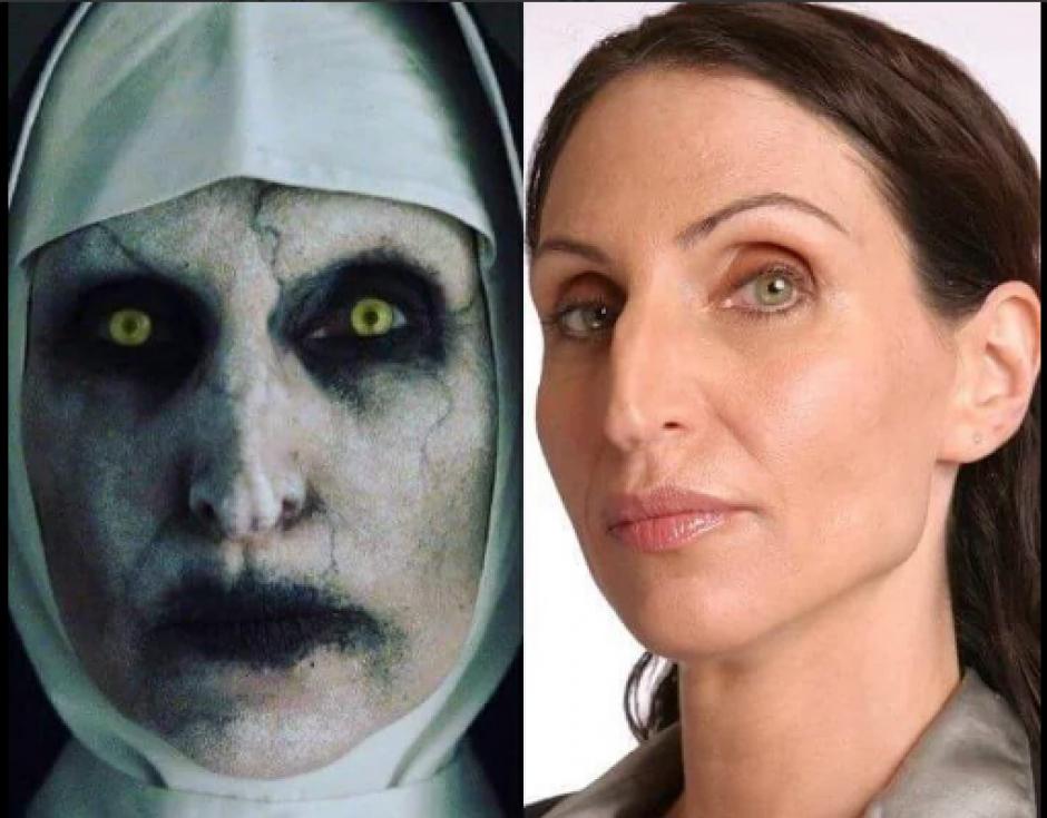 Esta es la comparación de la actriz sin maquillaje. (Foto: Canal44.com)