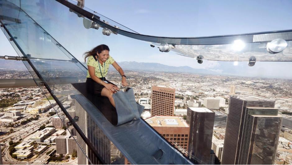 Skyslide es el nuevo atractivo de la ciudad. (Foto: lanacion.com.ar)