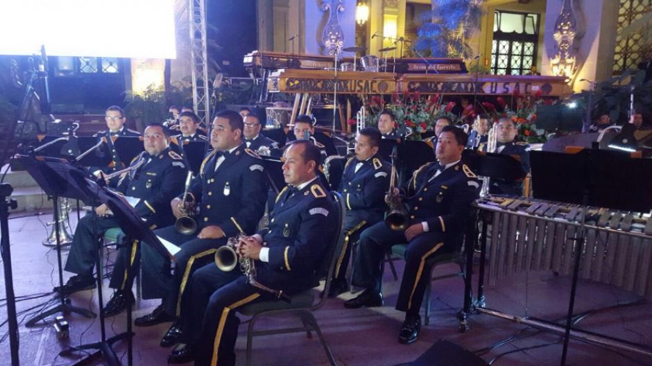 Una orquesta marcial fue también parte del concierto. (Foto: Gobierno de Guatemala)