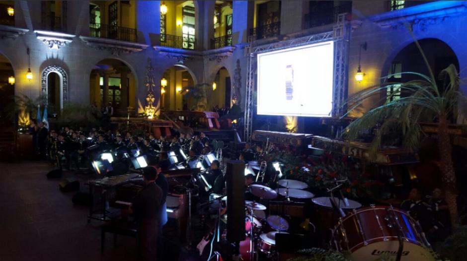 Así fue el montaje del evento para el Ejército. (Foto: Gobierno de Guatemala)