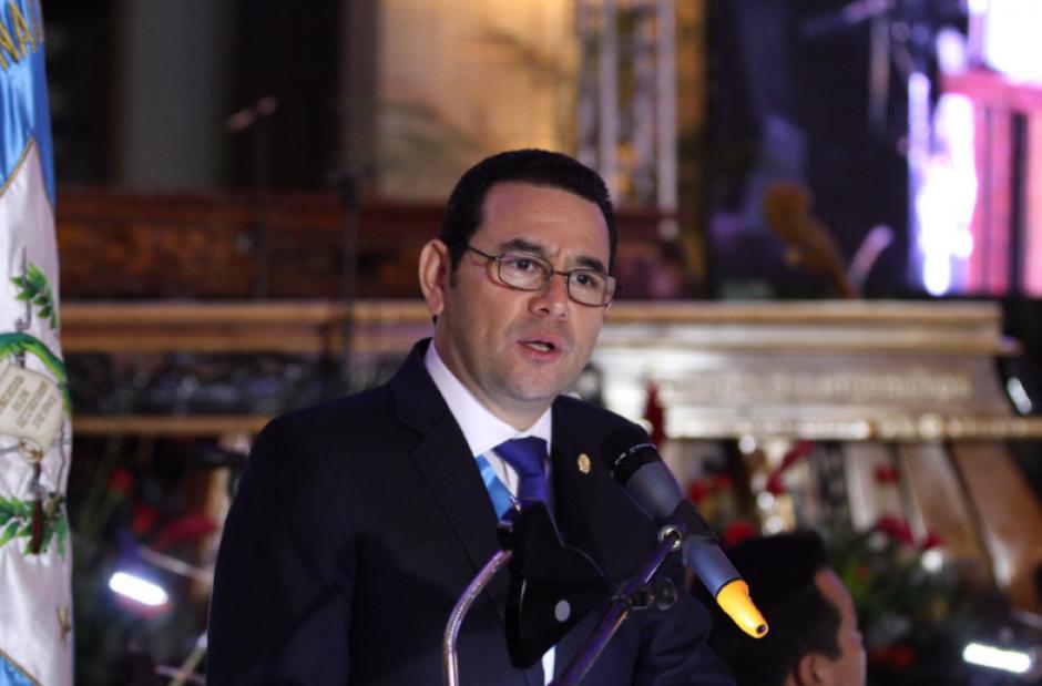 El presidente Jimmy Morales participó del evento. (Foto: Gobierno de Guatemala)