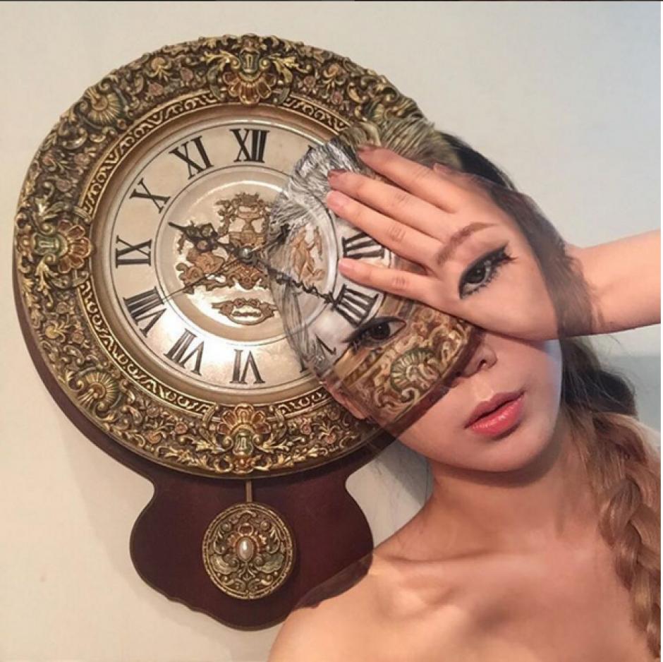 Dain Yoon combina escenas diarias y el bodypainting. (Foto: Instagram Dain Yoon)