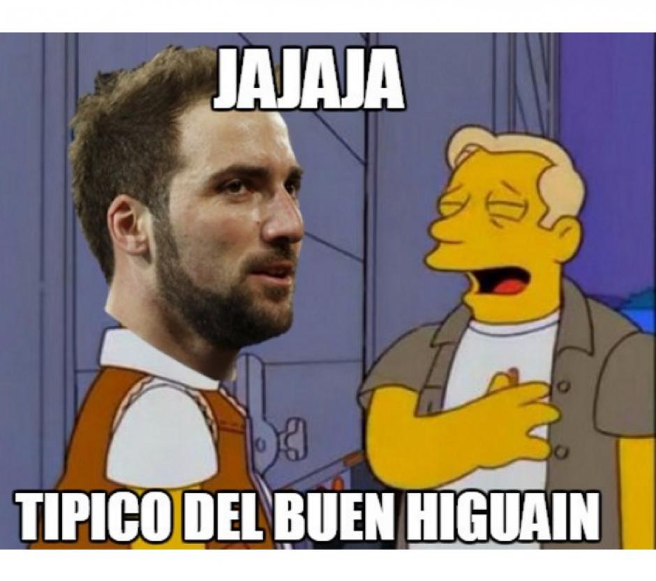 Los fallos de Higuaín fueron los principales protagonistas de memes. (Foto: MemeDeportes)