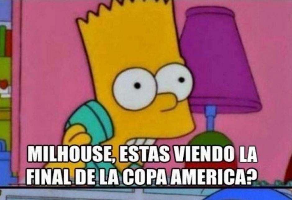 Las imágenes de los Simpsons también fueron utilizadas. (Foto: MemeDeportes)